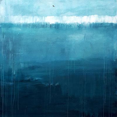 Bild: Erinnerungen 170 x 170 cm blau (preussischblau)