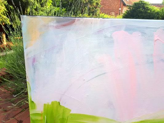abstrakte Malerei grün