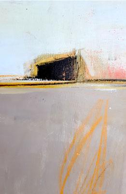 Detail graues Landschaftsbild
