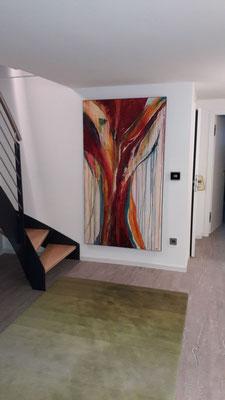 Abstrakpte große Bilder für Treppenaufgang
