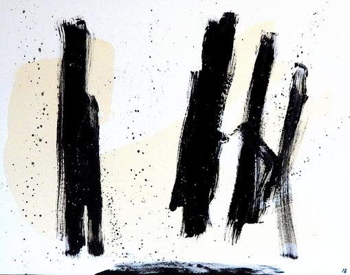 malerei schwarz weiß
