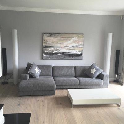 graues Bild für sofa