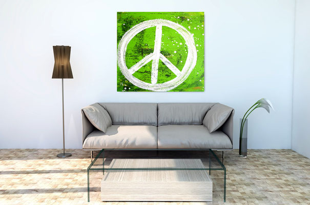 abstraktes Malerei grün