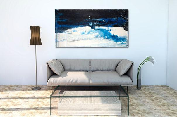 Bild blau im Raum
