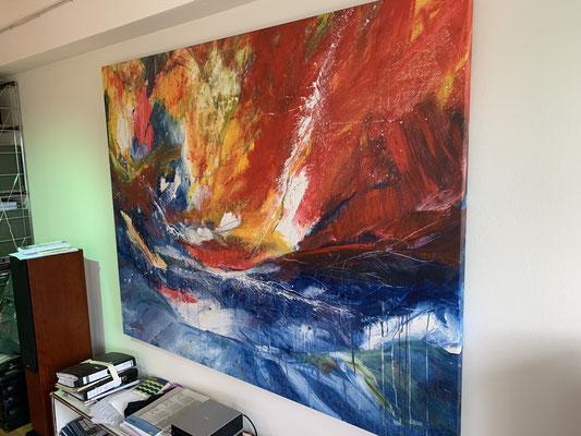 abstrakte große rote Bilder