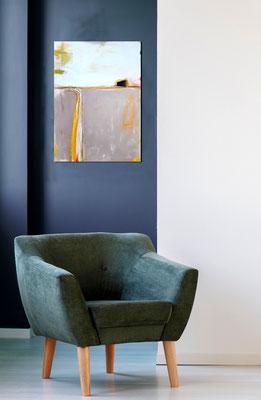 landschaftsbild grau in blauem Raum