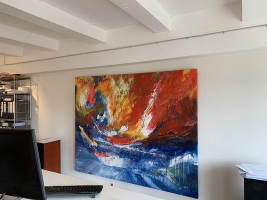 Bild abstrakt orange blau