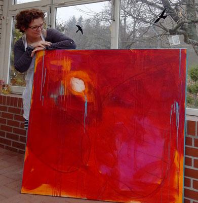 rote abstrakte Bilder