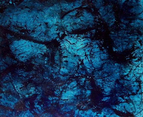 Titel: Bei Nacht - blaues Bild auf Rolle