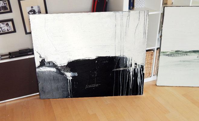 gemälde abstrakt schwarzweiss