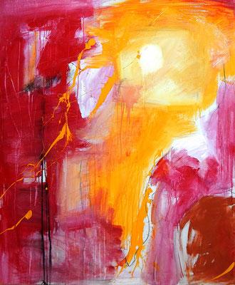 abstraktes rotes kunstwerk