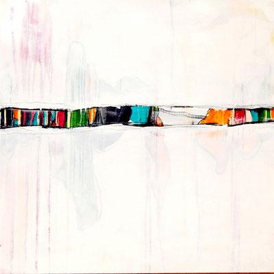 bild abstrakt 100 x 100 cm weiß