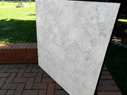 Abstraktes weißes Leinwandbild