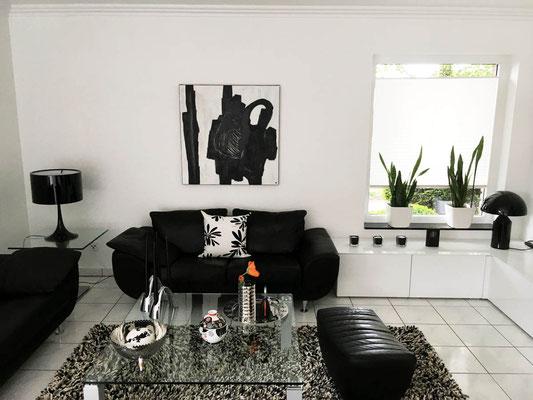 Bild in schwarz weiß - Gemälde