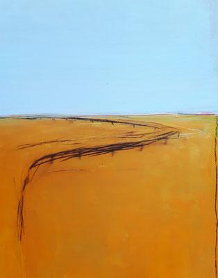 Detail Orange hellblau