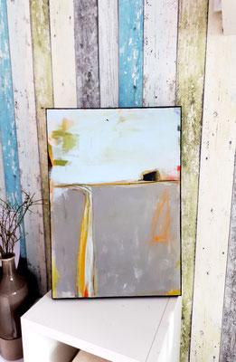 abstrakte Malerei Landschaft grau