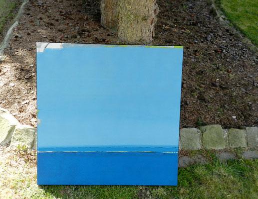 Die Welt reinigt sich - 80 x 80 cm  - man kann bei catawiki bieten - fragen Sie mich gerne - ich schicke Ihnen den Link
