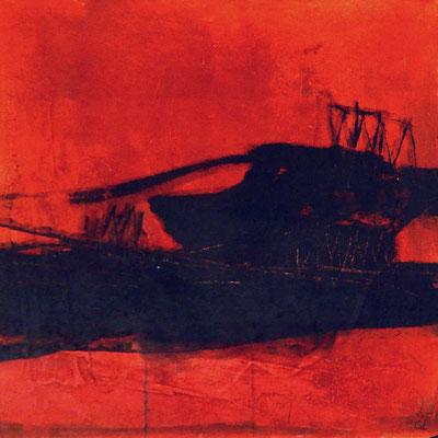 abstrakte Kunst rot