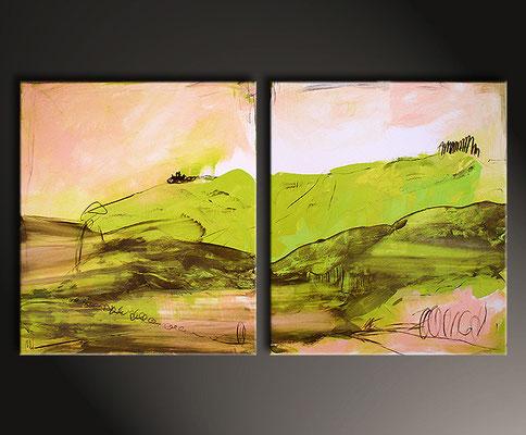 abstrakte Landschaft gemalt