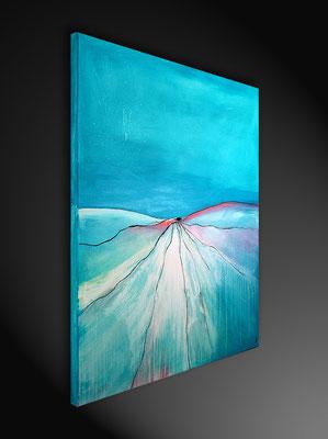kunst Malerei blau