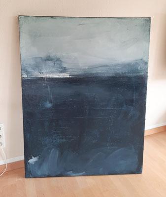 paynesgrau Leinwand Acrylbild 130 x 110 cm