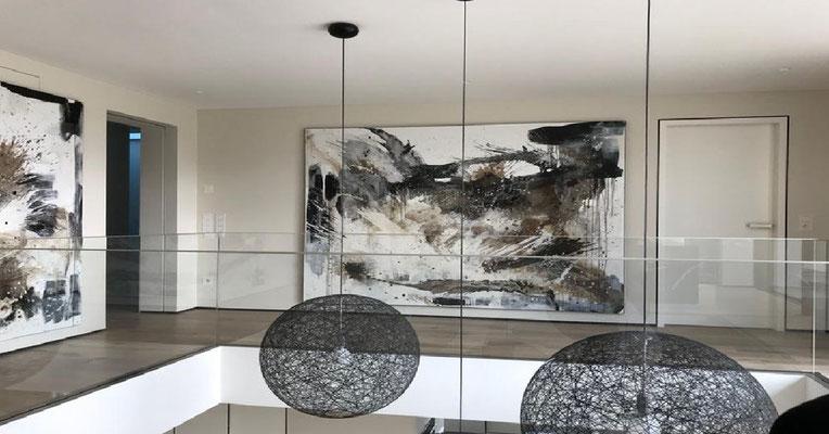 schwarz weiße großeBilder Gemälde
