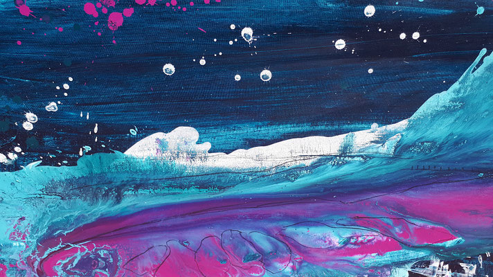 Bild in blau lila