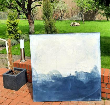 landschaftsbild blau weiss