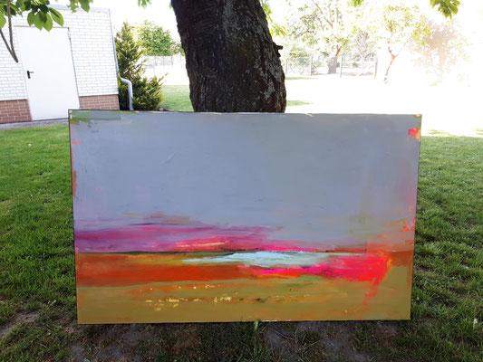 160 x 100 cm graues Bild