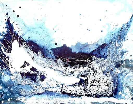 blaues Bild abstrakt