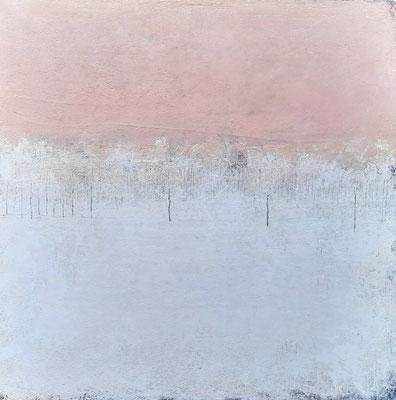 rosa weißes Bild - groß gemalt abstrakt