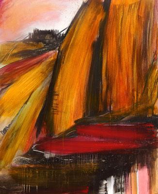 orange bild berge italien
