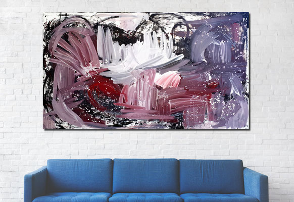 sofa blau - xxl Bild grau