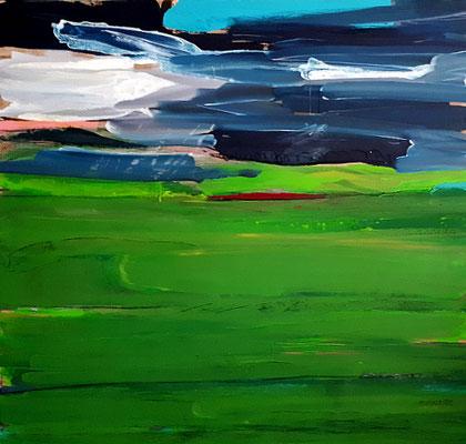 grüne abstrakte gemälde