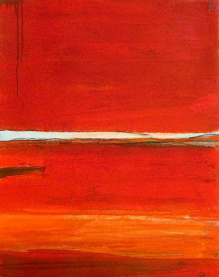 gemälde orange abstrakt