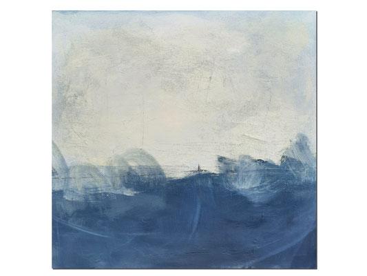 blau weisses Gemälde
