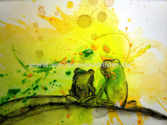 Froschbilder malen lassen