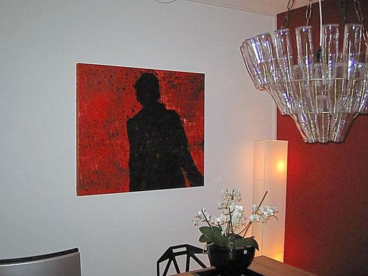 rotes bild esstisch