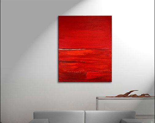 Kunst Malerei rot