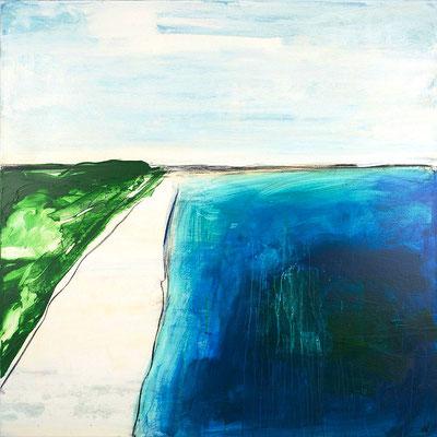 blaues abstraktes Bild - Kunst Malerei