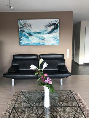 Bild mit Welle - über Sofa