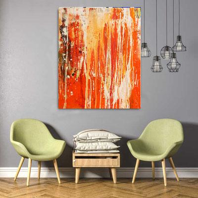 kunst malerei orange