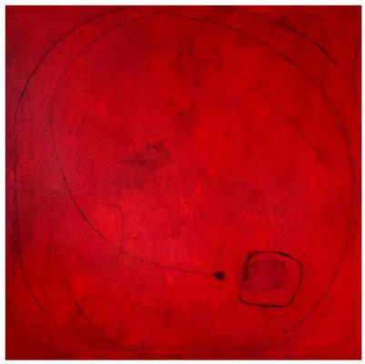 rotes Kunstwerk