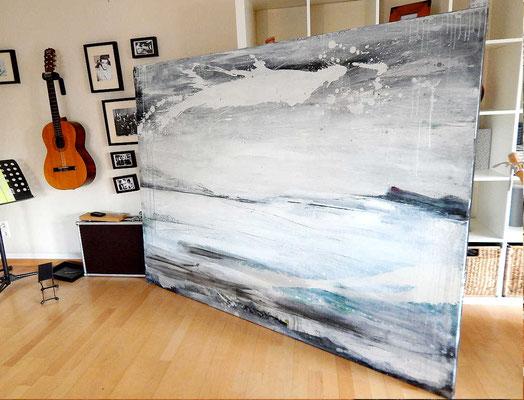 Gemälde groß  weiß