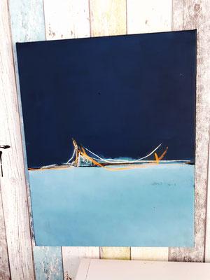 detail blaues Bild chillig in der Nacht