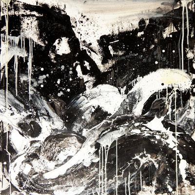 schwarzweiß bild Format 100 x 100 cm