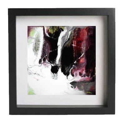 Bild im Bilderrahmen - Landschaft abstrakt 1 - wird ohne Rahmen verkauft