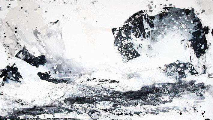 schwarz weiß Gemälde