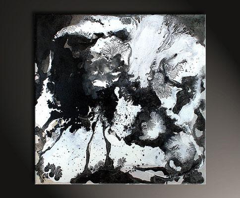 Acrylbild schwarzweiss