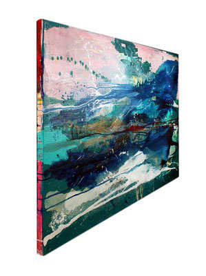 abstrakte Kunst türkis kaufen